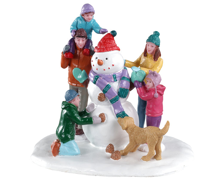 Lemax 03511 Snowman Teamwork, Table Piece- Gift Spice