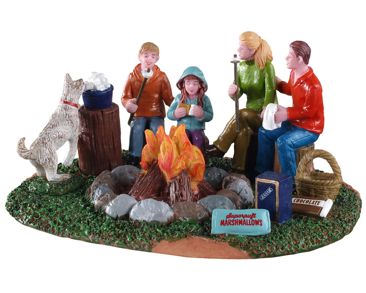 Lemax 03524 S'More Family Fun, Table Piece- Gift Spice