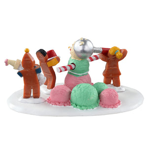 Lemax 03532 Triple Scoop Snowman, Table Piece- Gift Spice