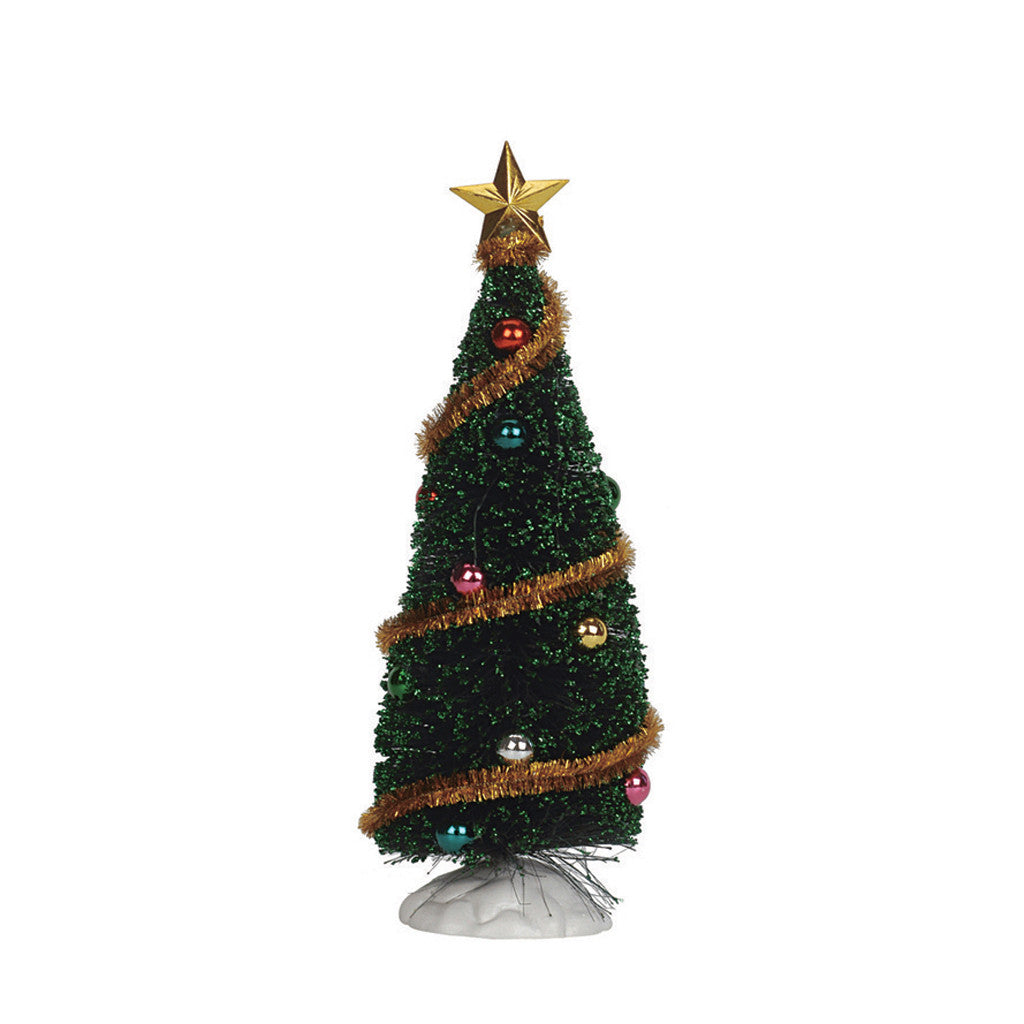 Lemax 04493 Sparkling Green Christmas Tree, Medium, Tree- Gift Spice