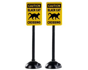 Lemax 04712 Scary Road Signs, Set of 2, Accessory- Gift Spice