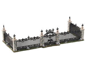 Lemax 04713 Bat Fence Gate, Set of 5, Accessory- Gift Spice