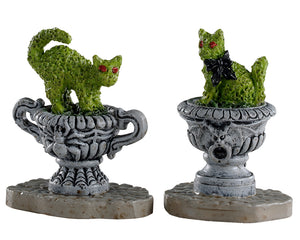 Lemax 04714 Haunted Topiary, Set of 2, Accessory- Gift Spice