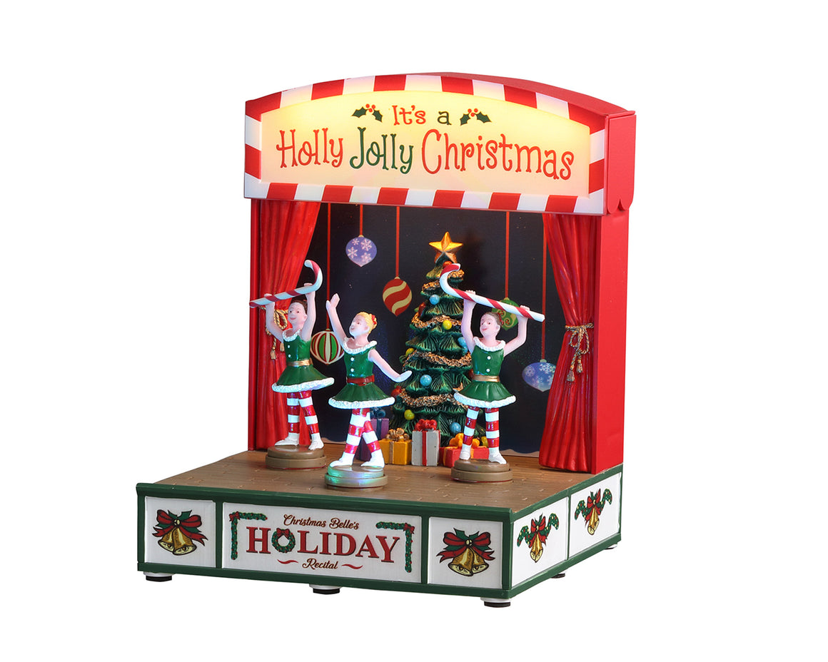 Lemax 04726 Christmas Belle's Holiday Recital, Sights and Sound piece- Gift Spice