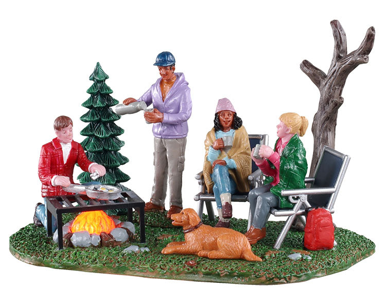 Lemax 04728 Camping Couples, Animated Table Piece- Gift Spice