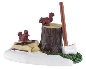 Lemax 04730 Axe and Logs, Accessory- Gift Spice