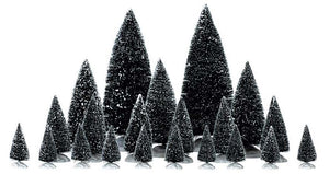 Lemax 04768 Assorted Pine Trees, Set of 21, Accessory- Gift Spice
