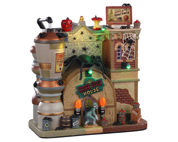 Lemax 05606 Spider Cider House, Exterior Lighted House- Gift Spice