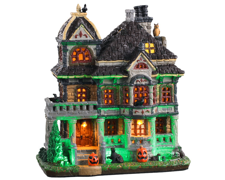 Lemax 05609 Grimsbury Haunted House, Standard Lighted Building- Gift Spice
