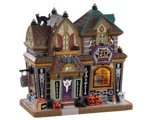 Lemax 05610 Black Cat Halloween Decor, Standard Lighted Building- Gift Spice