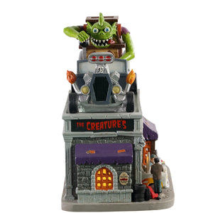 Lemax 05611 The Creature's Custom Hot Rod Shop, Standard Lighted Building- Gift Spice