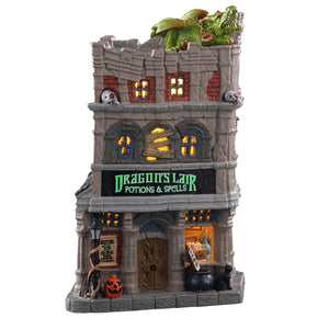 Lemax 05615 Dragon's Lair Potions & Spells, Standard Lighted Building- Gift Spice