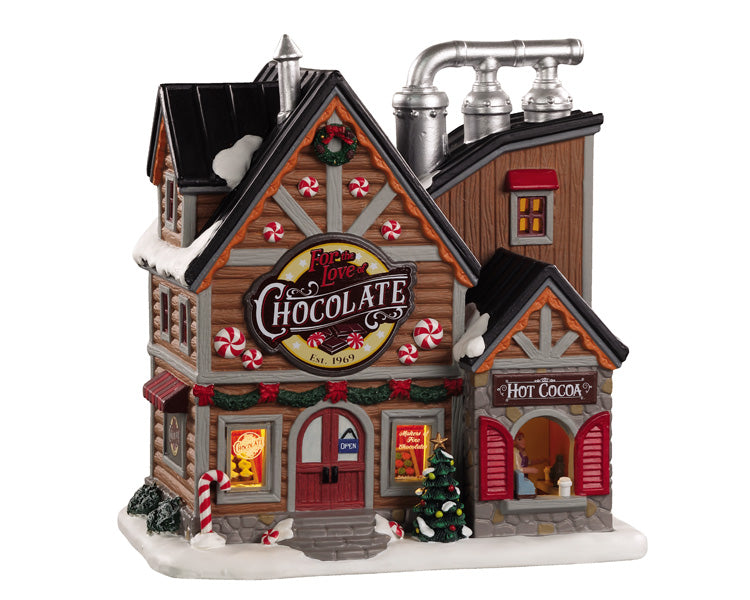 Lemax 05621 For the Love of Chocolate Shop, Standard Lighted Building- Gift Spice