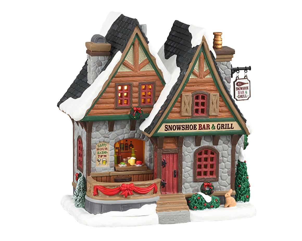 Lemax 05624 Snowshoe Bar & Grill, Standard Lighted Building- Gift Spice