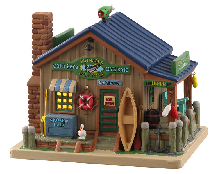 Lemax 05634 Putnam's Bait & Tackle, Standard Lighted Building- Gift Spice
