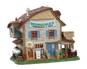 Lemax 05636 Bedingfield's Landscape & Tree, Standard Lighted Building- Gift Spice