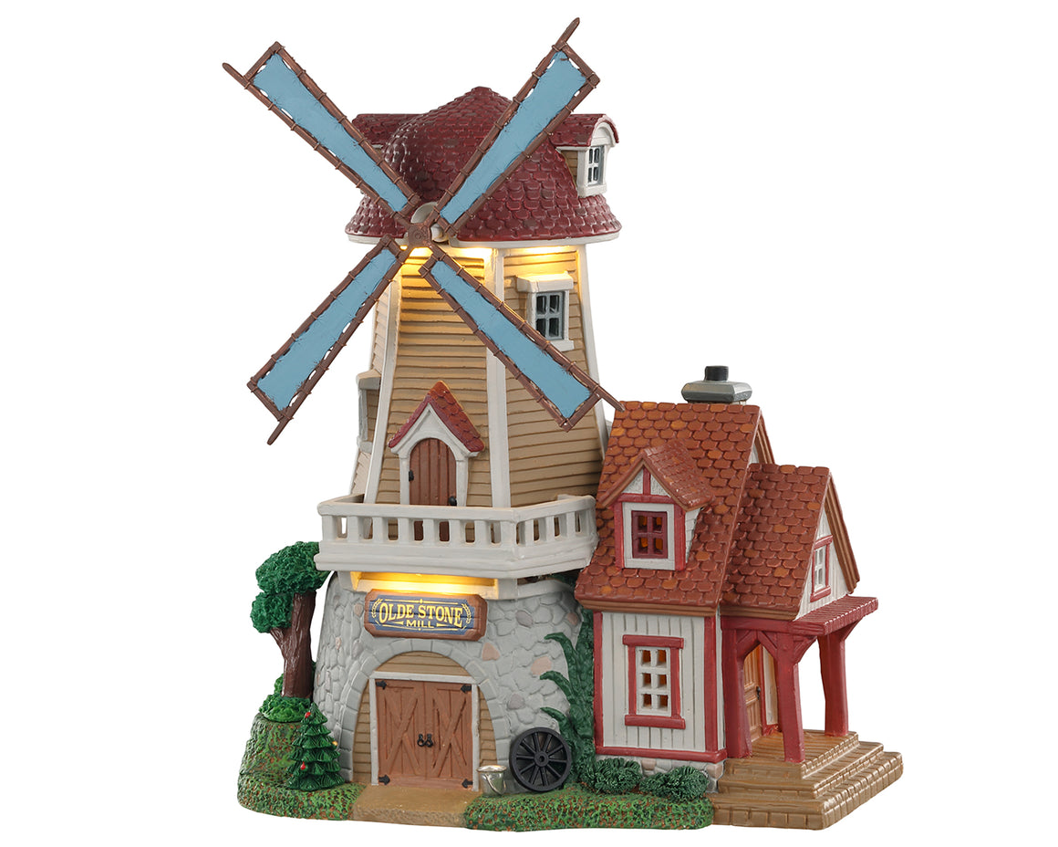 Lemax 05637 Olde Stone Mill, Exterior Lighted House- Gift Spice