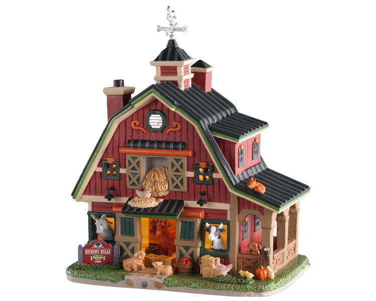 Lemax 05638 Hickory Hills Farm, Standard Lighted Building- Gift Spice