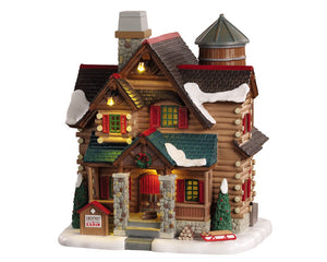 Lemax 05641 Chestnut Cabin, Exterior Lighted House- Gift Spice