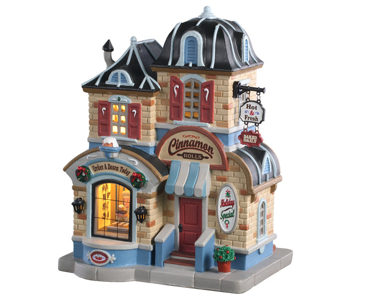 Lemax 05645 Cinnamon Roll Shop, Standard Lighted Building- Gift Spice