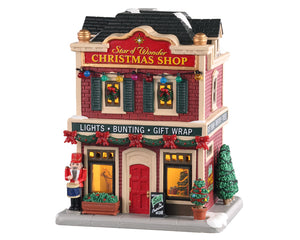 Lemax 05646 Star of Wonder Christmas Shop, Standard Lighted Building- Gift Spice