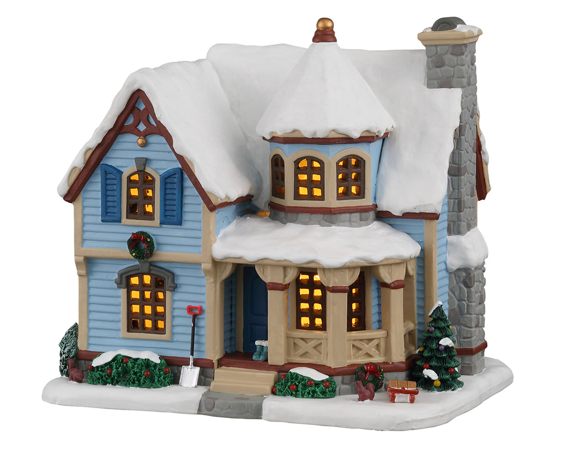 Lemax 05654 Snow Day at the Wilson's House, Standard Lighted Building- Gift Spice