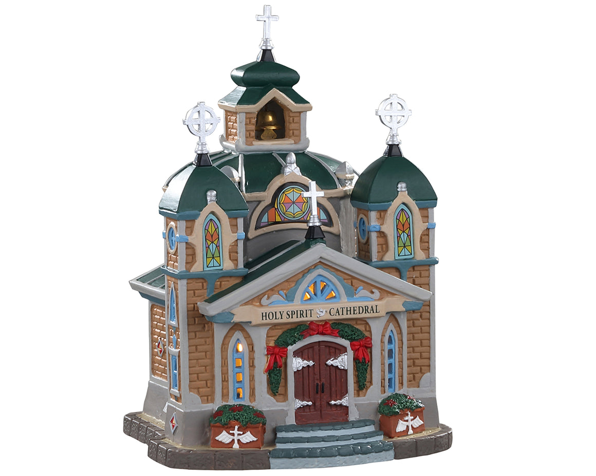 Lemax 05655 Holy Spirit Cathedral, Standard Lighted Building- Gift Spice