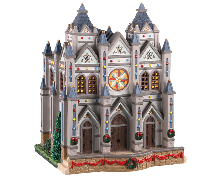 Lemax 05661 Christmas at the Cathedral, Standard Lighted Building- Gift Spice