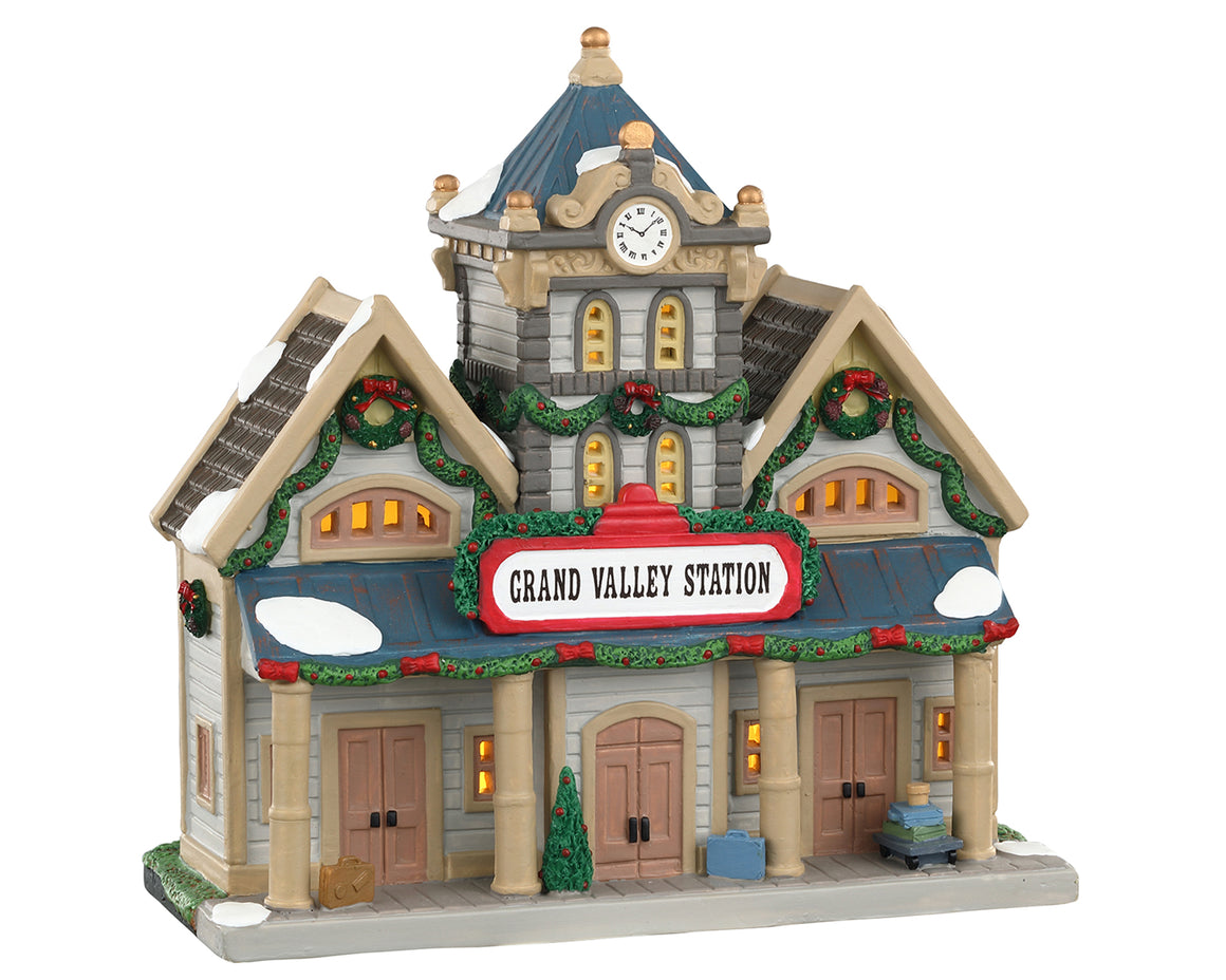 Lemax 05669 Grand Valley Station, Standard Lighted Building- Gift Spice