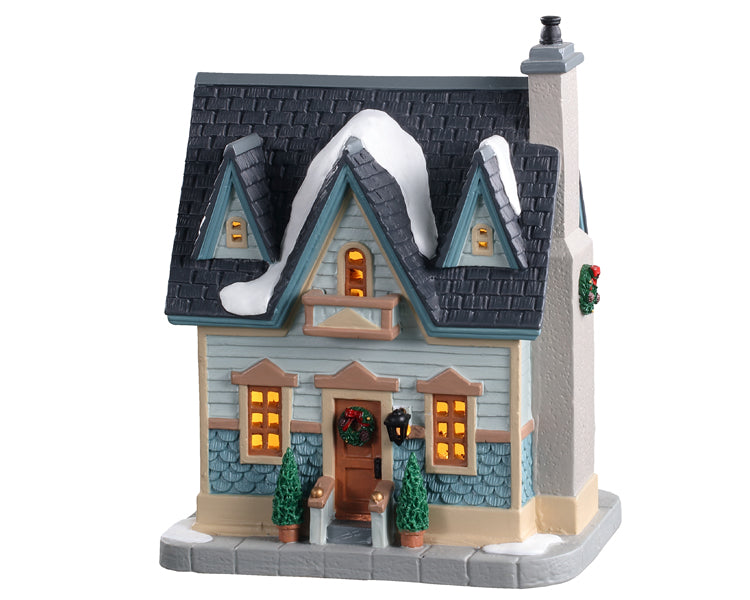 Lemax 05670 Our Town Home, Standard Lighted Building- Gift Spice