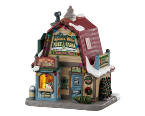 Lemax 05675 Spruce Hills Tree Farm, Standard Lighted Building- Gift Spice