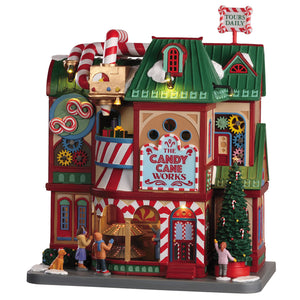Lemax 05681 The Candy Cane Works, Sights and Sound piece- Gift Spice