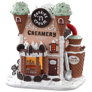 Lemax 05699 Cookie'N Cream Creamery, Standard Lighted Building- Gift Spice