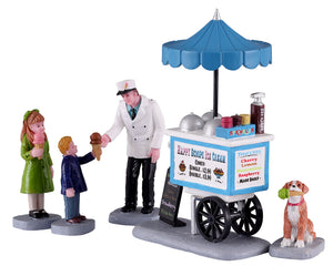 Lemax 12037 Happy Scoops Ice Cream Cart, Set of 5