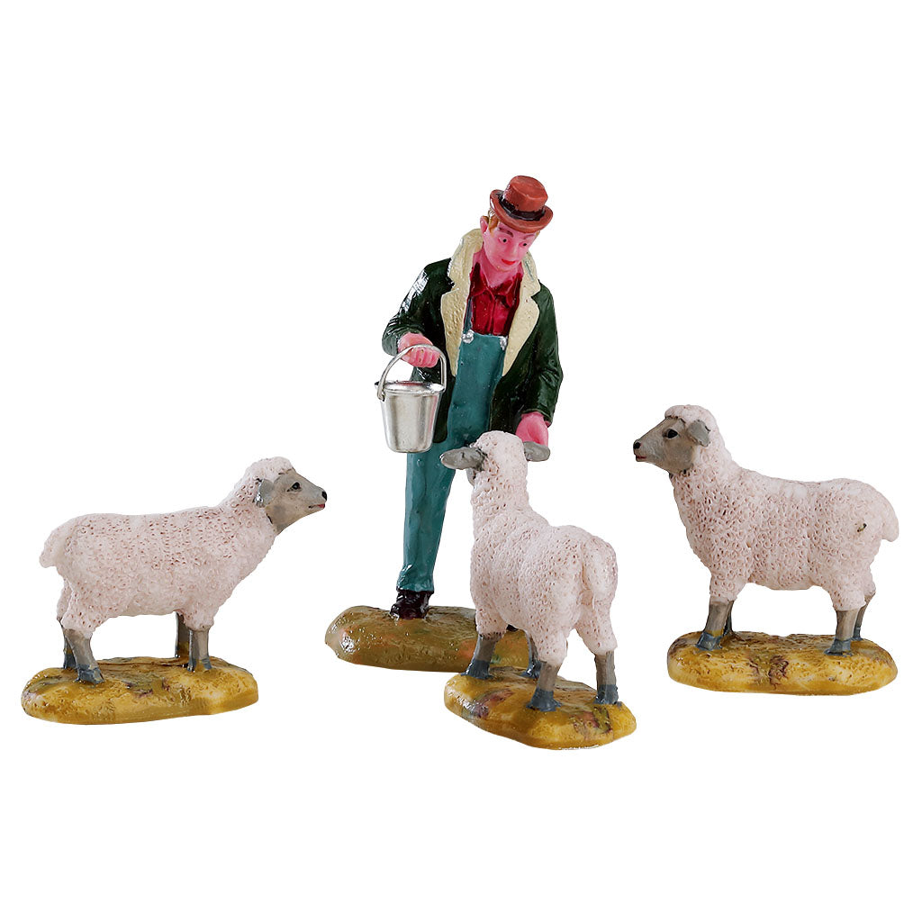 Lemax 12499 The Good Shepherd, Set Of 4, Figurine- Gift Spice