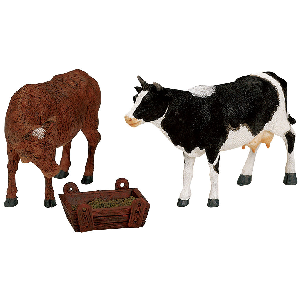 Lemax 12512 Feeding Cow & Bull Set Of 3, Figurine- Gift Spice