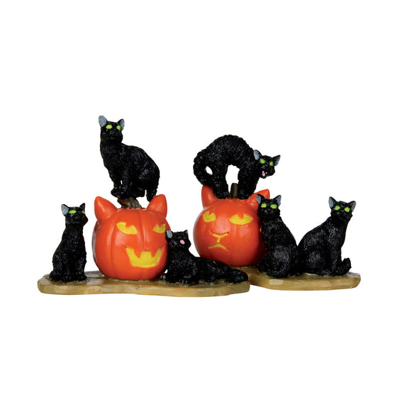 12883 Halloween Cats, set of 2, Lemax Spookytown- Gift Spice