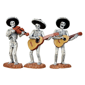 Lemax 12884 Skeleton Mariachi Band, Figurine- Gift Spice