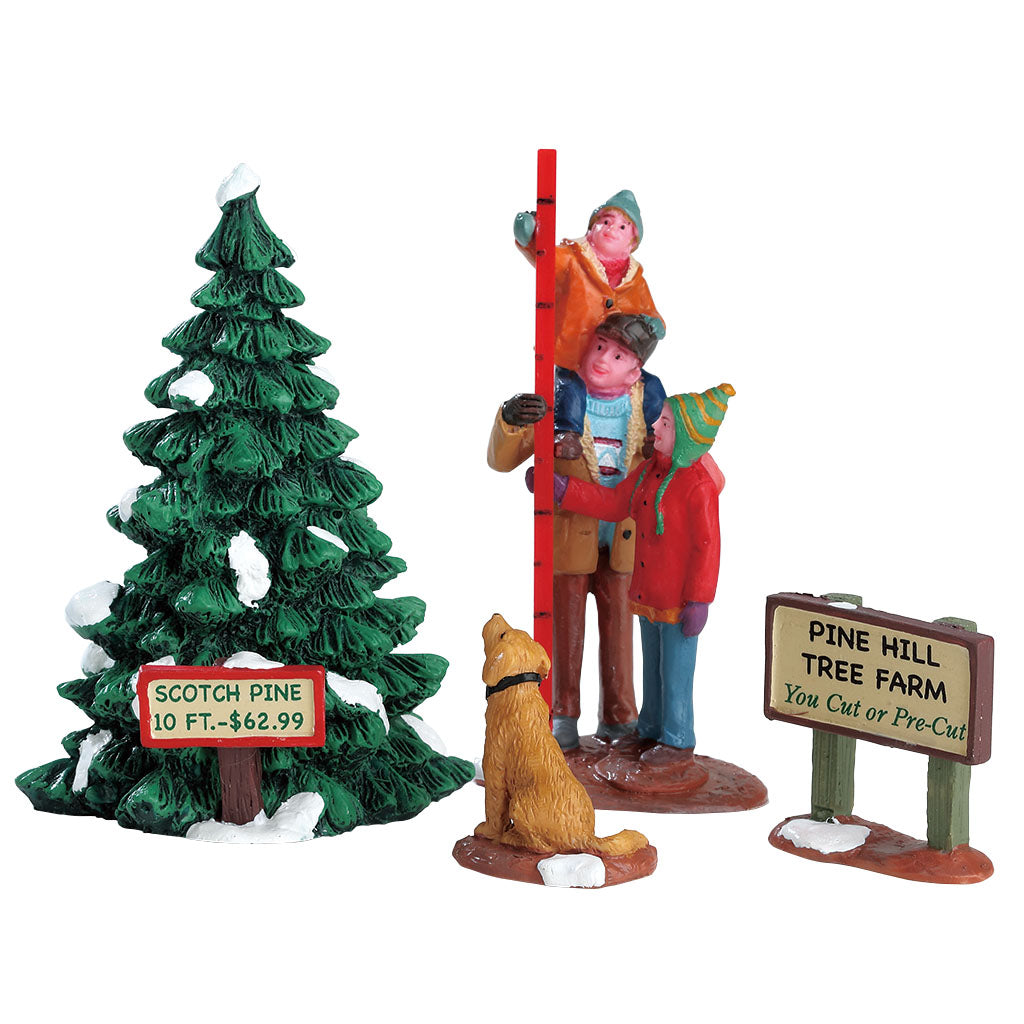 Lemax 12926 Picking The Tallest Tree Set Of 4, Figurine- Gift Spice
