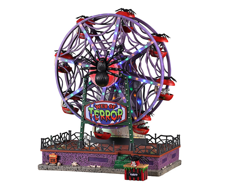 Lemax 14823 Web of Terror Ferris Wheel