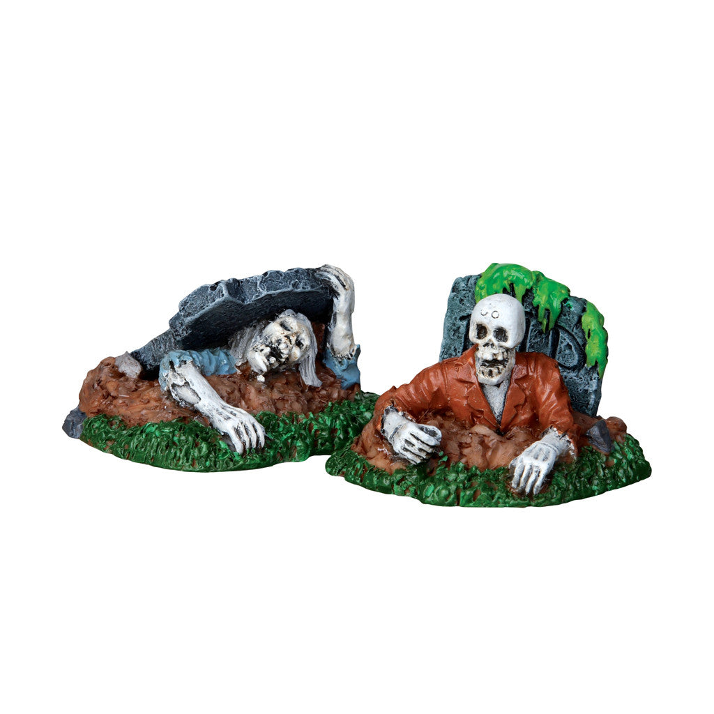 Lemax 22007 Zombies!!! Set of 2, Figurine- Gift Spice