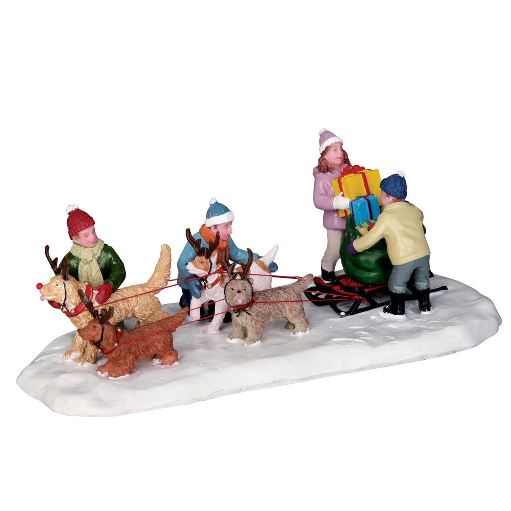 23961 Neighborhood Santas, Lemax Collectibles- Gift Spice