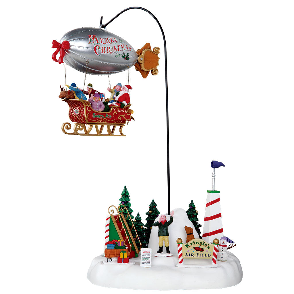 Lemax 24484 Kringles Air Field, Sights and Sound piece- Gift Spice
