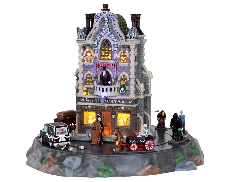 Lemax 25335 Village Undertaker, Set of 9, Sights and Sound piece- Gift Spice