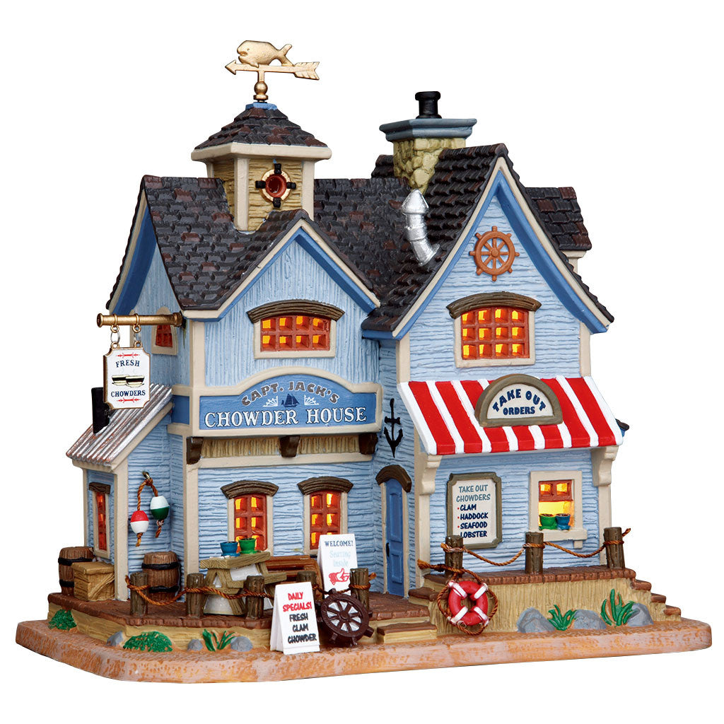 Lemax 25367 Captain Jack's Chowder House, Standard Lighted Building- Gift Spice