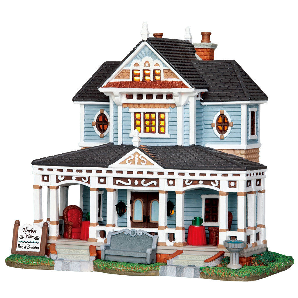 Lemax 25381 Harbor View Bed & Breakfast, Standard Lighted Building- Gift Spice