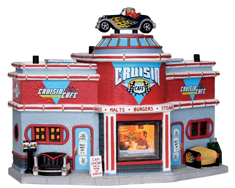 Lemax 25406 Cruisin' Cafe, Standard Lighted Building- Gift Spice