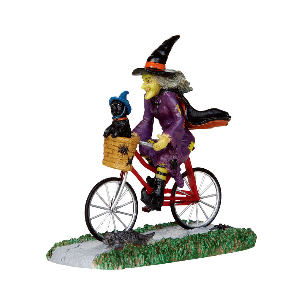 Lemax 32109 Be-Witching Bike Ride, Figurine- Gift Spice