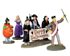 Lemax 32115 Halloween Parade Banner, Set of 5, Figurine- Gift Spice