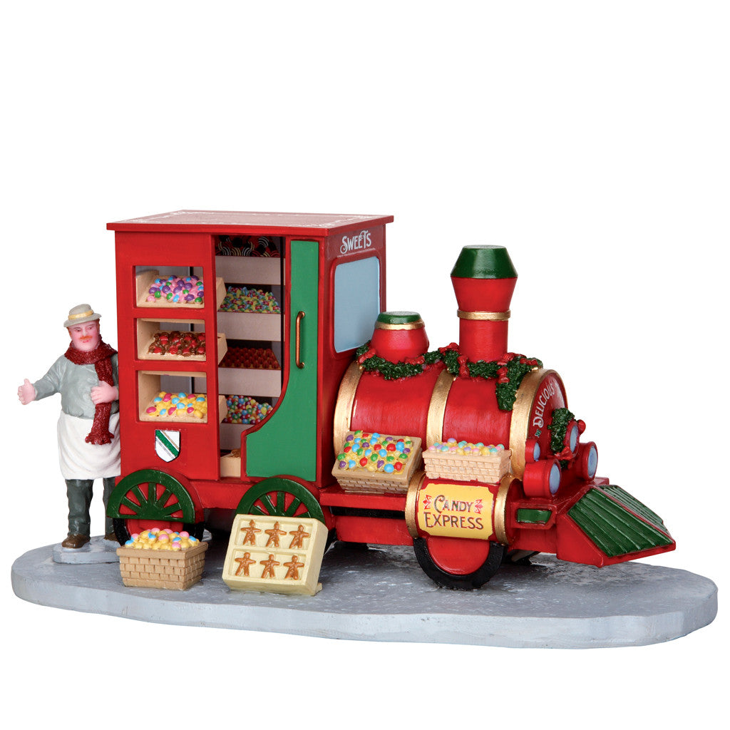33023 Christmas Market Candy Seller, Lemax Collectibles- Gift Spice